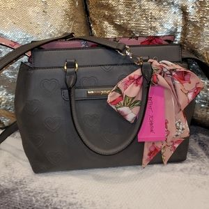 Betsey Johnson Satchel with Printed Scarf